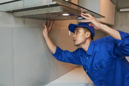 Coffret de ventilation pour hotte aspirante